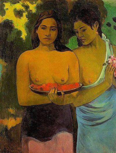456px-Paul_Gauguin_-_Deux_Tahitiennes