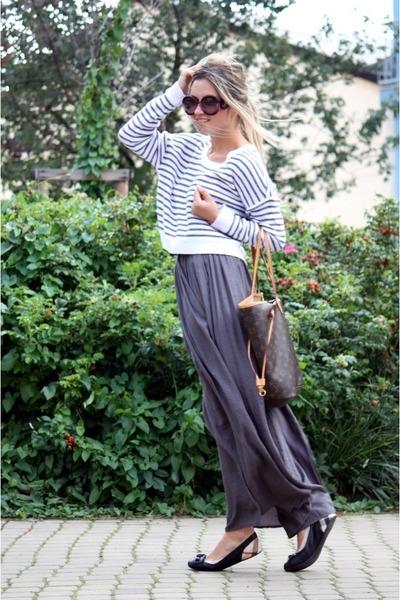 H-m-sweater-prada-sunglasses-charcoal-gray-zara-skirt-burberry-flats_400